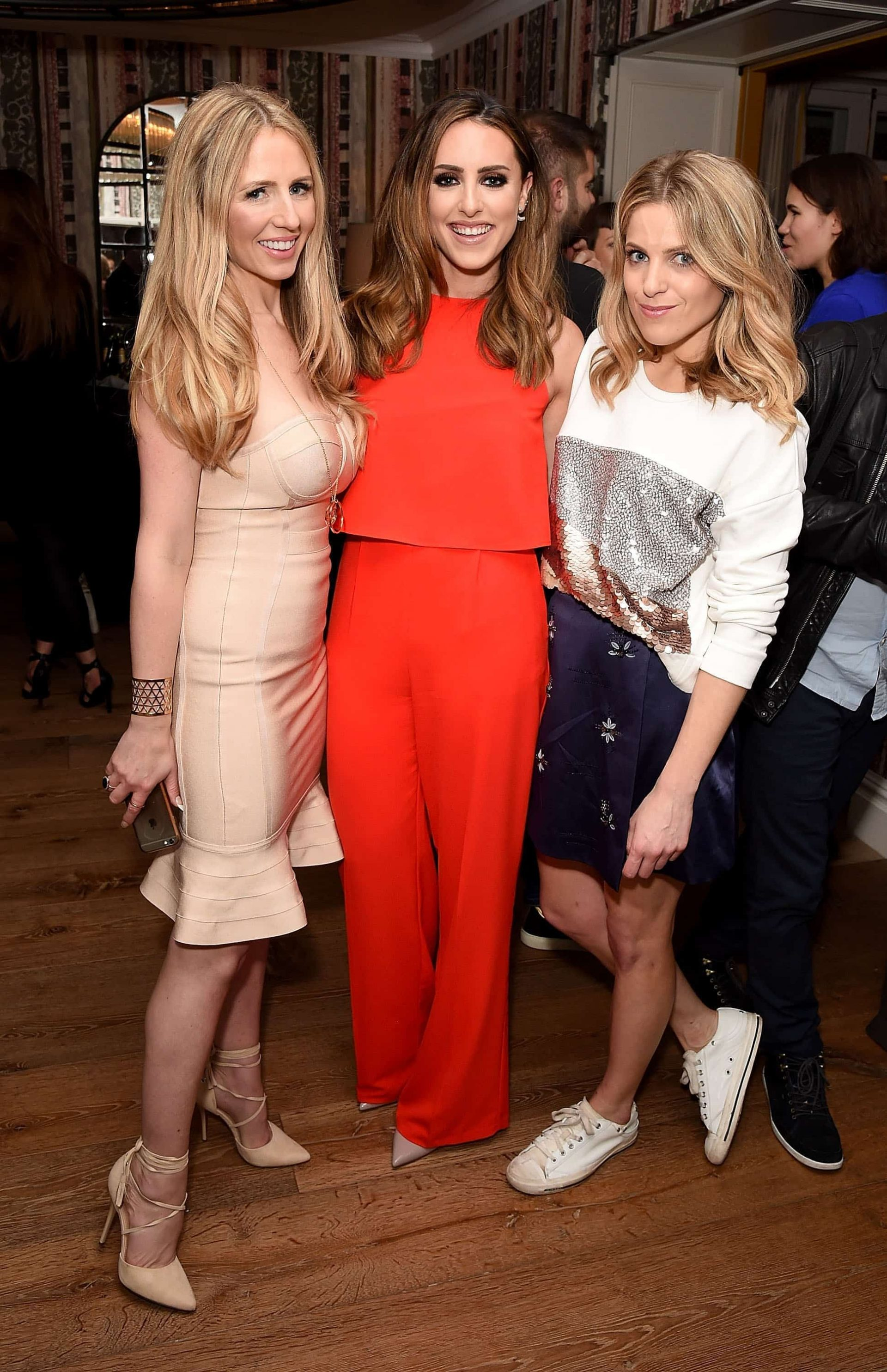 """LONDON, ENGLAND - JUNE 02:  (L-R) Naomi Isted, Sabrina Chakici and Olivia Cox attend the launch of new US celebrity dating show """"Famously Single"""" featuring Calum Best on June 2, 2016 in London, England. The show will be available on hayu from Wednesday 15th June and on E! Sunday 19th June at 10pm.  (Photo by David M. Benett/Dave Benett/Getty Images for E! / hayu - NBCUniversal) *** Local Caption *** Naomi Isted; Sabrina Chakici; Olivia Cox"""