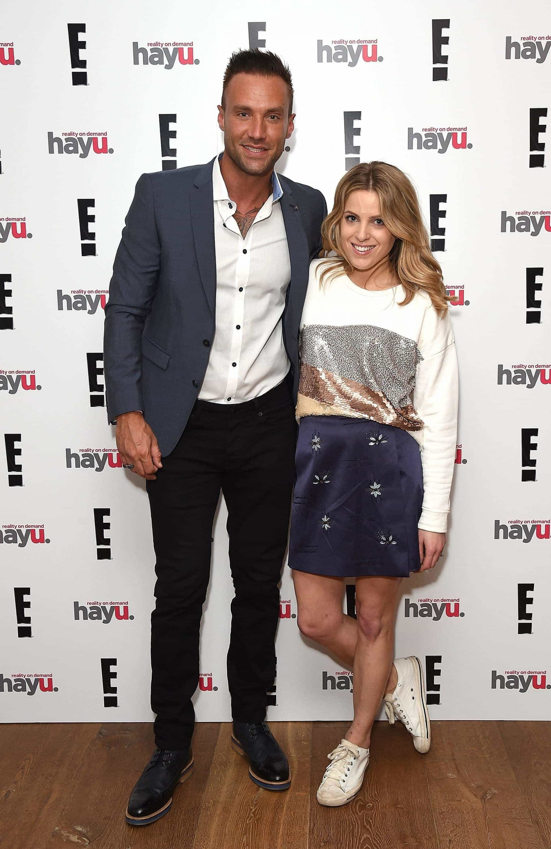 """LONDON, ENGLAND - JUNE 02:  Calum Best and Olivia Cox attend the launch of new US celebrity dating show """"Famously Single"""" featuring Calum Best on June 2, 2016 in London, England. The show will be available on hayu from Wednesday 15th June and on E! Sunday 19th June at 10pm.  (Photo by David M. Benett/Dave Benett/Getty Images for E! / hayu - NBCUniversal) *** Local Caption *** Calum Best; Olivia Cox"""